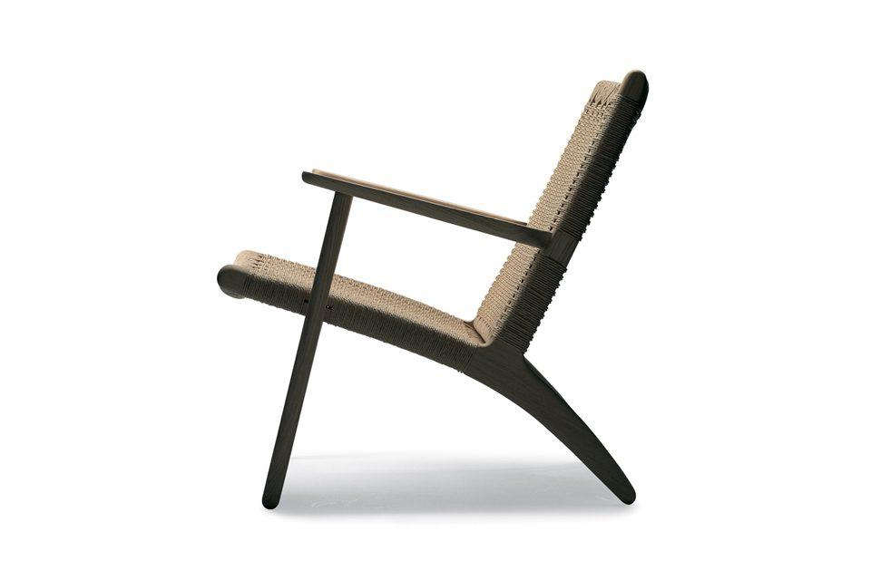 CH25 i sæbebehandlet eg lænestol Køb populære Wegner stol